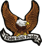 """Ride with Pride"" Eagle Motorcycle Patch"