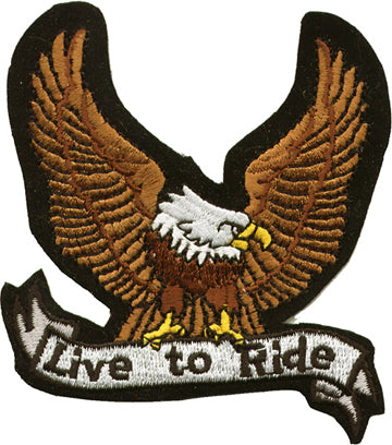 """Live to Ride"" With Eagle Patch"