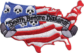 """Death Before Dishonor"" Country with Flag & Skulls"