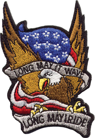 """Long May It Wave / Long May I Ride"" Eagle & Flag"