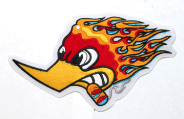 Flaming Duck with No Border