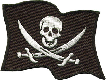 Pirate Flag Biker Patch