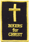 """Bikers for Christ"" Cross Patch"