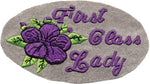 """First Class Lady"" Violet Rose Motorcycle Patch"