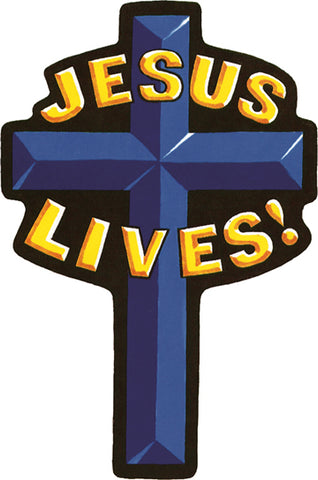 """Jesus Lives"" Cross Patch"