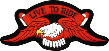 """Live to Ride"" Eagle Patch For Bikers"