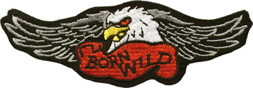 """Born Wild"" Eagle with Wings Patch"