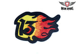 Flaming 13 Patch