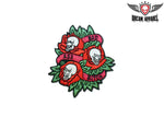 Womens 3 Skulls & 3 Roses Patch
