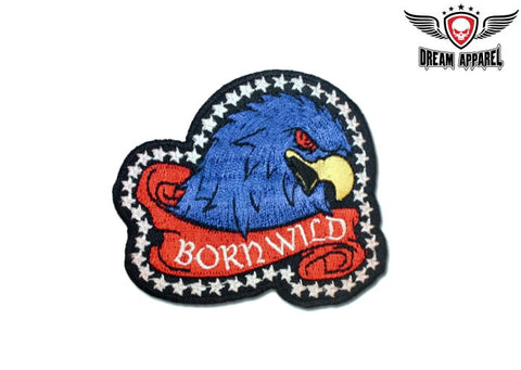 Born Wild Eagle Head With Red Eyes Patch