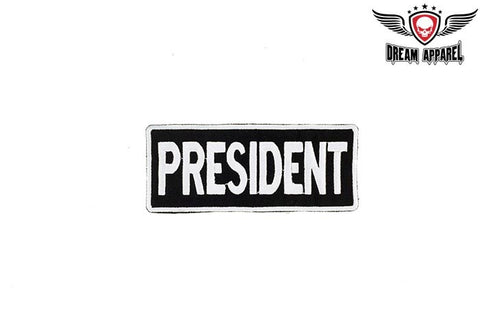 Motorcycle Club President Patch