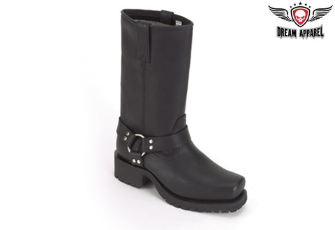 Biker Boots With Strap & Ring At Ankle