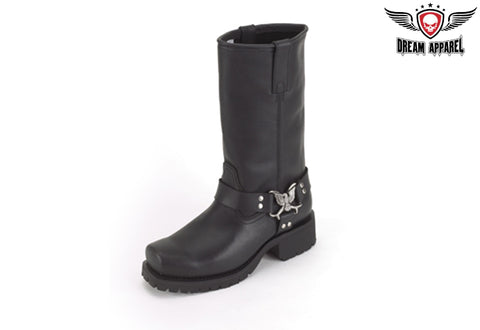 Biker Boots With Eagle At Ankle