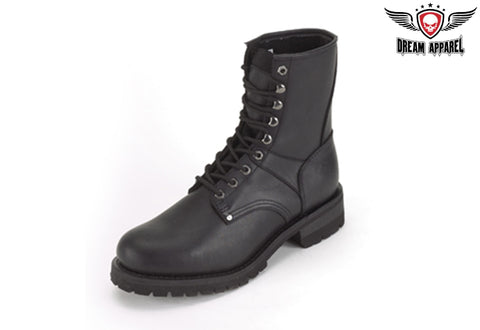 Biker Boots With Laces Up Front