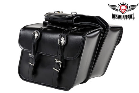 Medium Motorcycle Saddlebag With Concho