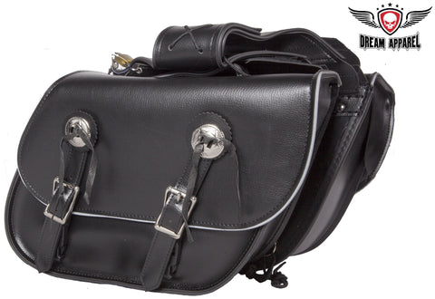 PVC Motorcycle Saddlebag With Light Reflective Trim