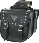 PVC Motorcycle Saddlebag With Studs