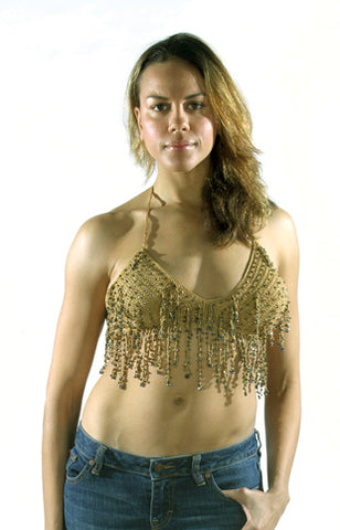 Womens Brown Halter Top