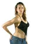 Womens Black Halter Top