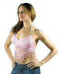 Womens Pink Halter Top