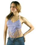 Womens Purple Halter Top