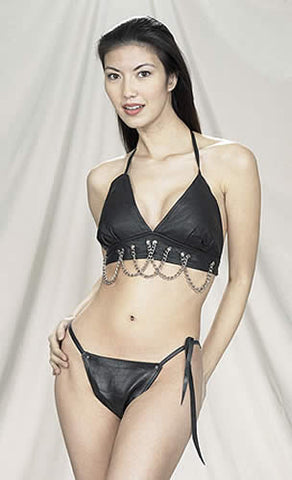 Womens Halter Bra With Chains
