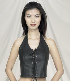 Womens Halter Vest With Laces