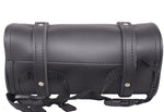 "10"" Plain PVC Motorcycle Tool Bag With 2 Roller Buckle Straps"