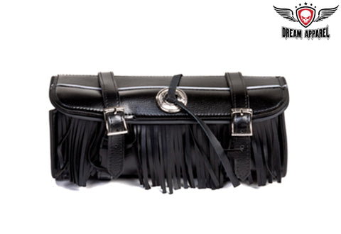 "12"" PVC Motorcycle Tool Bag With Fringes"