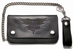 Leather Wallet With V-Twin Engine & Wings