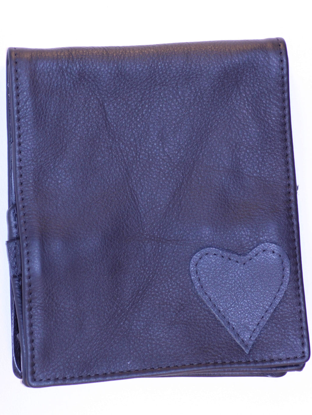 Leather Artisan Handmade leather scissor pouch heart