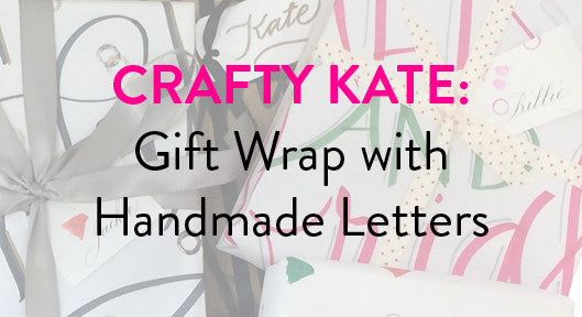Crafty Kate: Gift Wrap with Handmade Letters