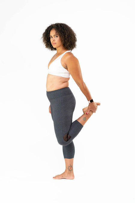 Go Commando Yoga Capri - Blue Mosaic- FINAL SALE