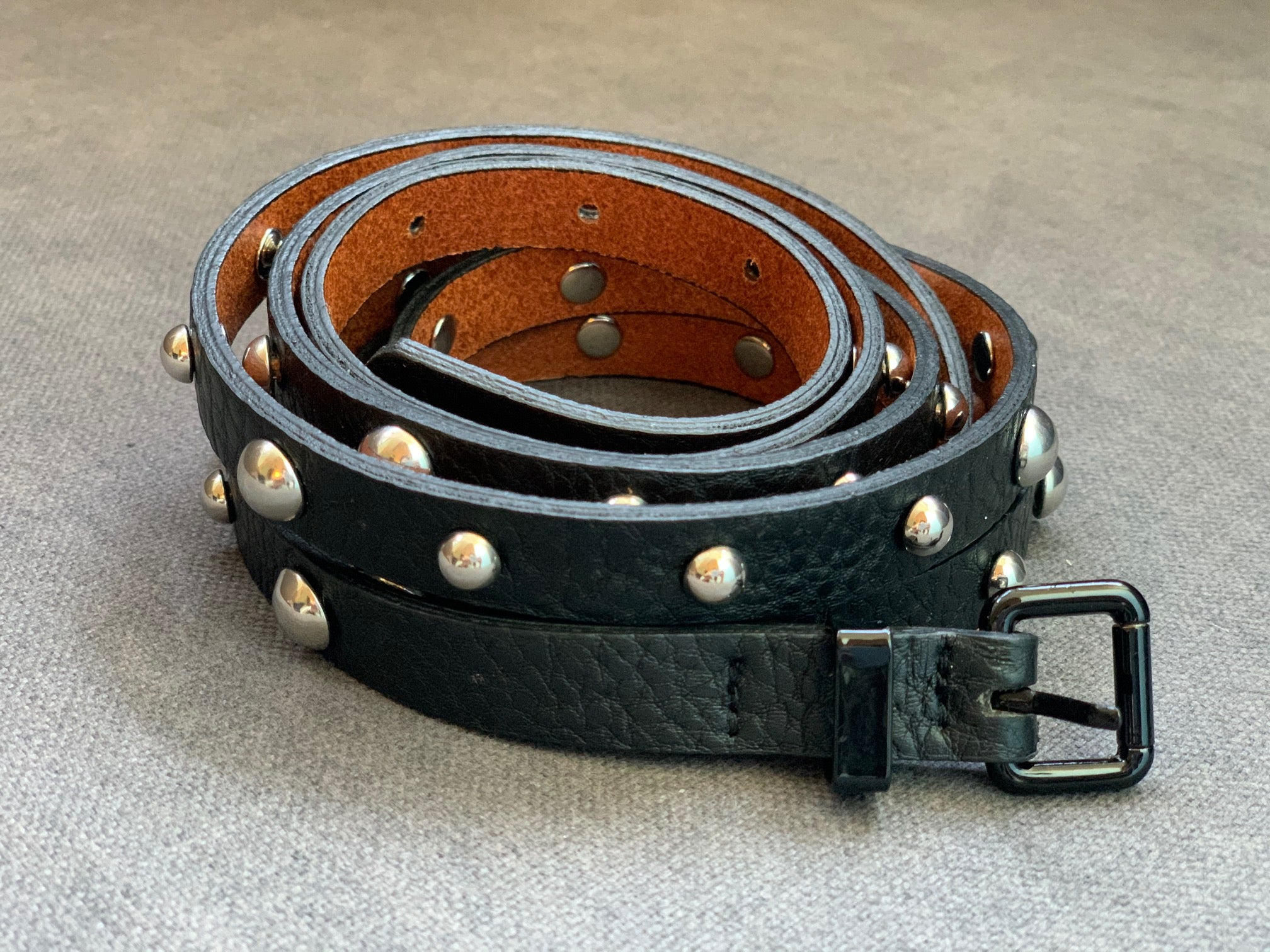 Double Belt w/ Mixed Domed Studs