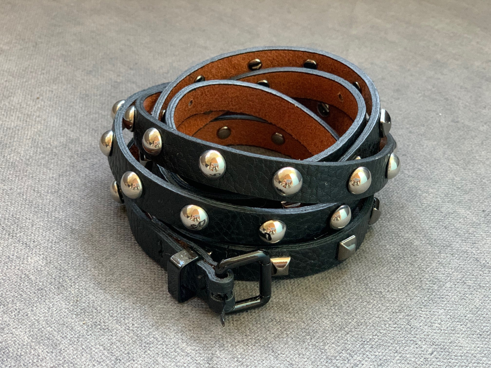 Double Mixed Stud Belt