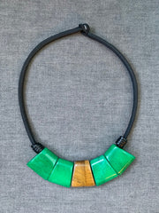 Geometry Jade Statement Necklace