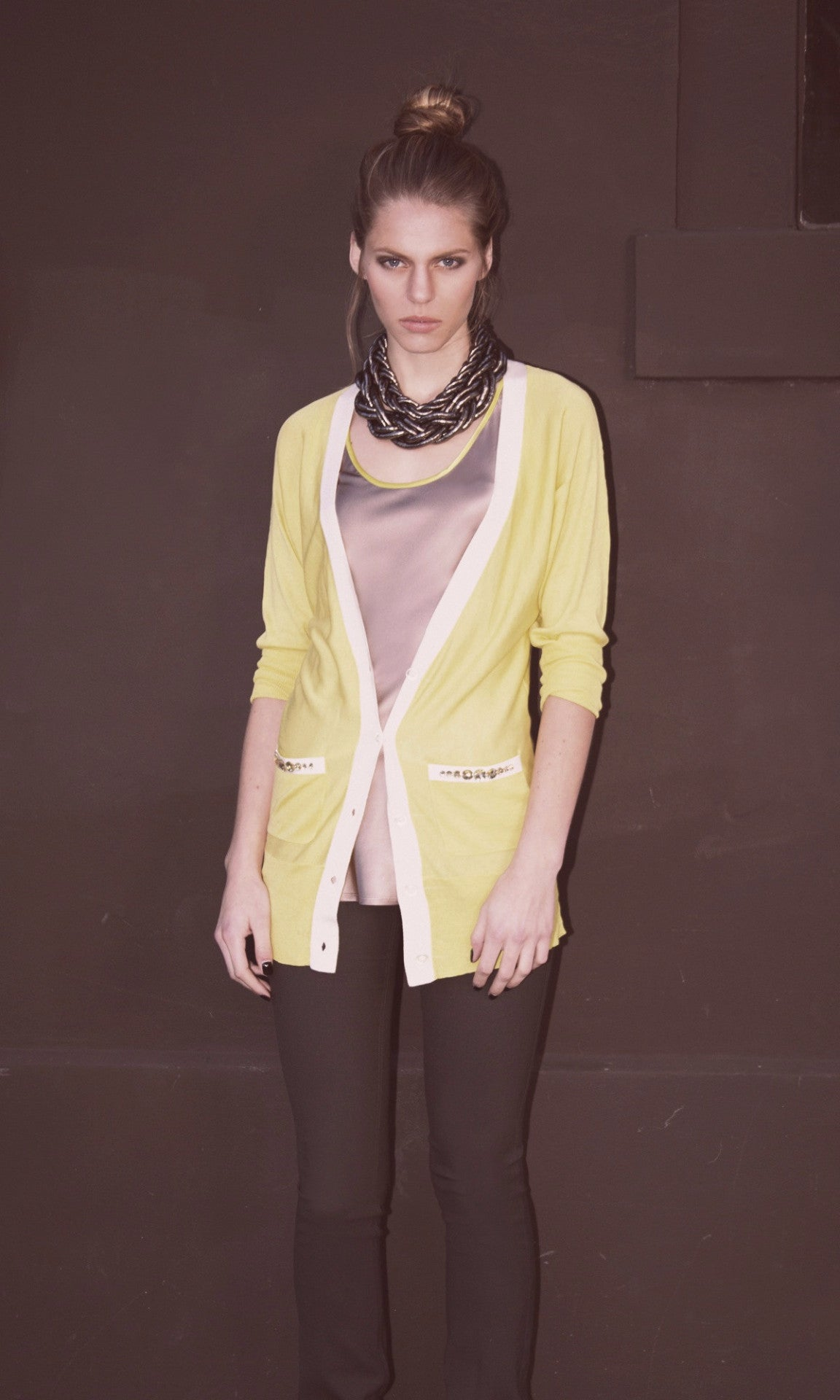 Carla V Neck Cardi with Stones