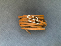 Skinny Dual Strap Leather Belt