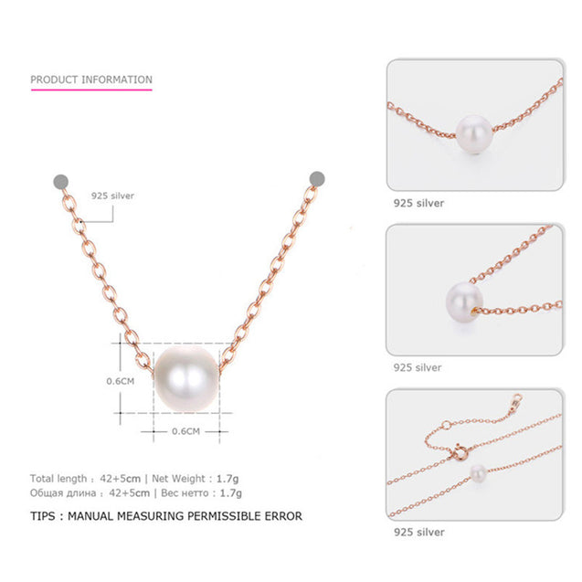 Necklaces Pendants for Women Round Freshwater Pearls Necklace - LovastyleOfficial