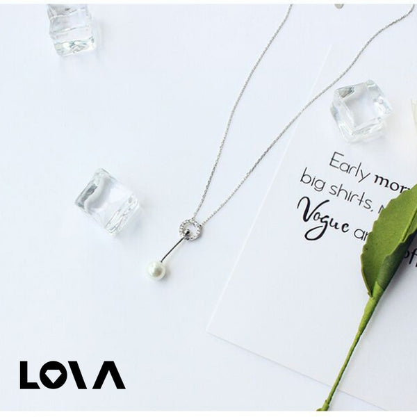 Zircon Bead Necklace Women's Clavicle Chain - Lova