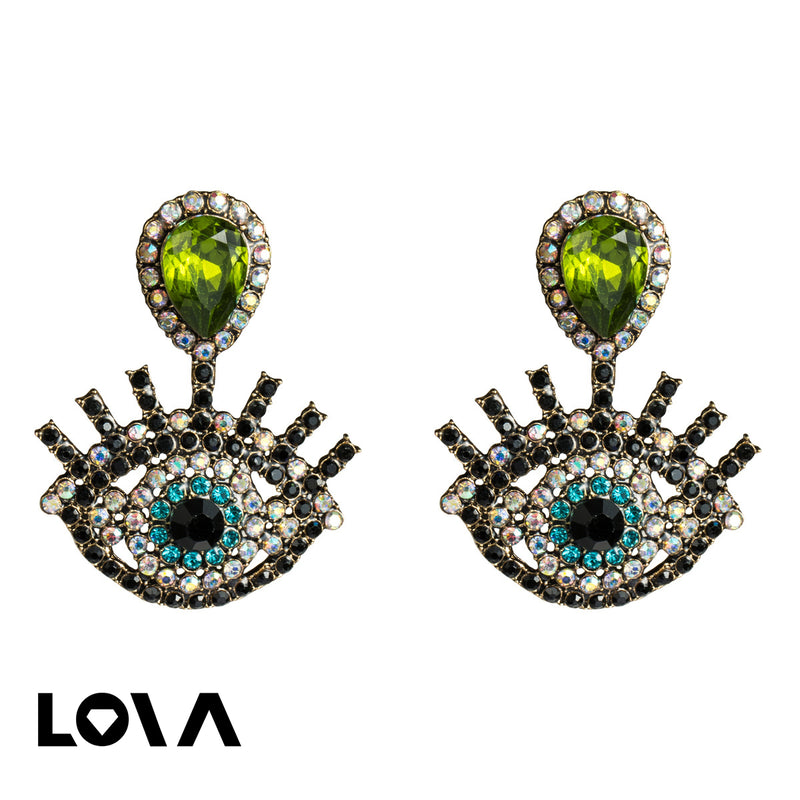 Acrylic Diamond Earring Female Retro Temperament - Lova