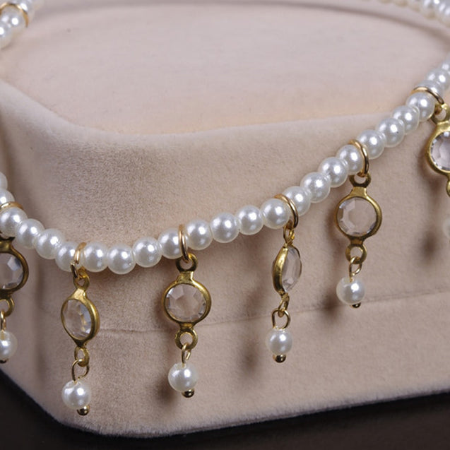 Exquisite Imitation Pearls Artificial Crystal Anklets Chain - LovastyleOfficial