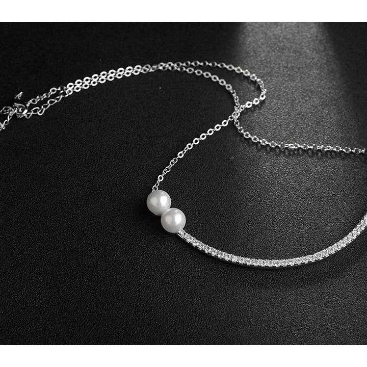Curved and delicate clavicle chain temperament Necklace - Lova