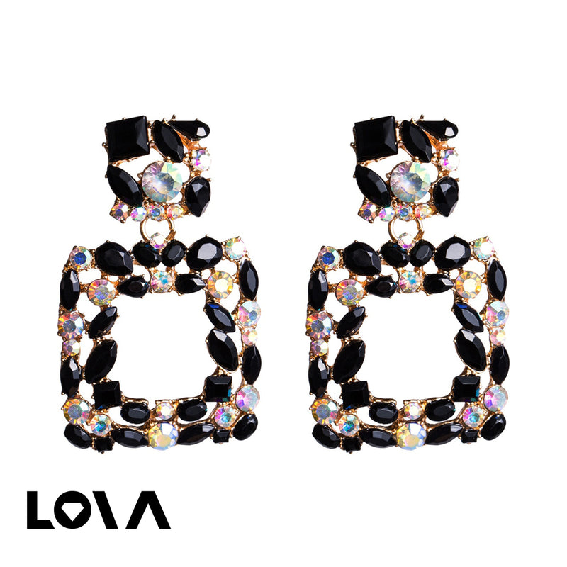 Women's Drop Earrings Stylish Geometry Elegant Earrings Accessory - Lova