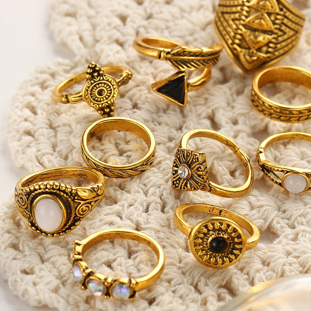 10 Pcs Women's Ring Set - LovastyleOfficial