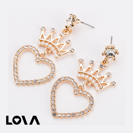 Exaggerated Big Brand Alloy Multi-Layer Diamond Earrings - LovastyleOfficial