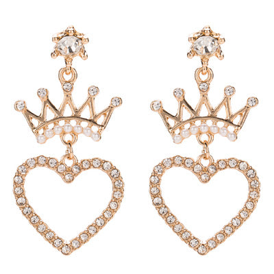Exaggerated Big Brand Alloy Multi-Layer Diamond Earrings - Lova