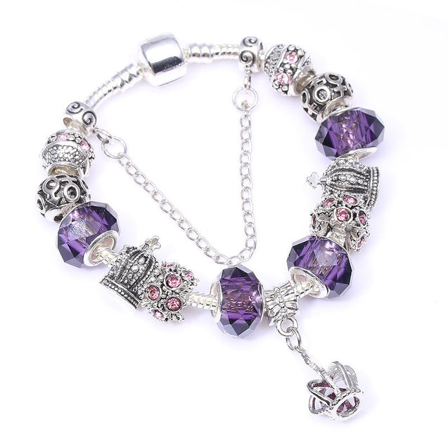 Diy purple crown personality ladies Bracelet - Lova