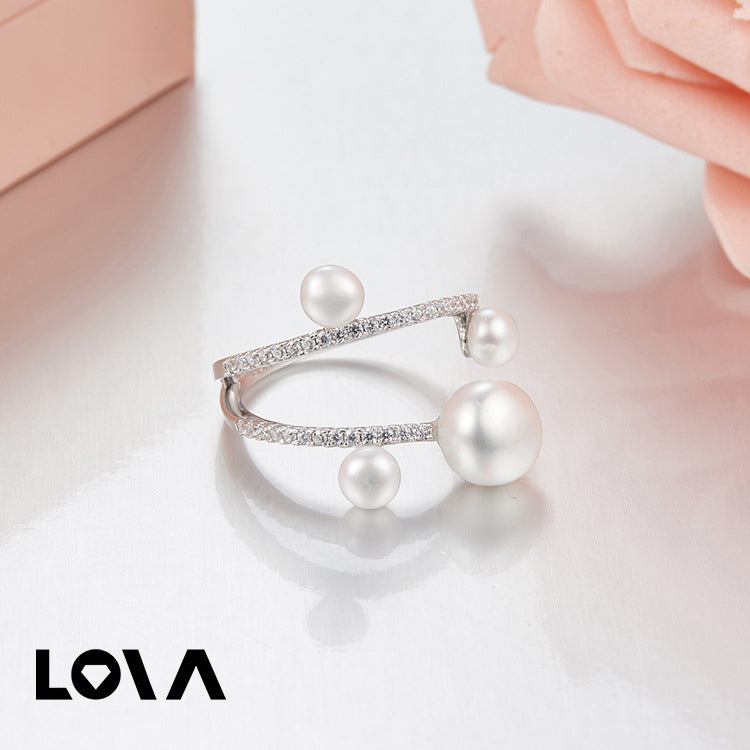 Zircon Pearl Alloy Rings - Lova
