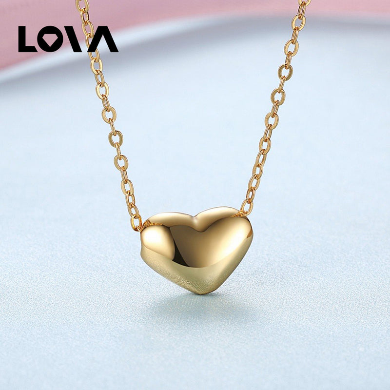 Ms. Explosion. Environmental Protection Yellow Heart Pendant Female Necklace N638 - Lova